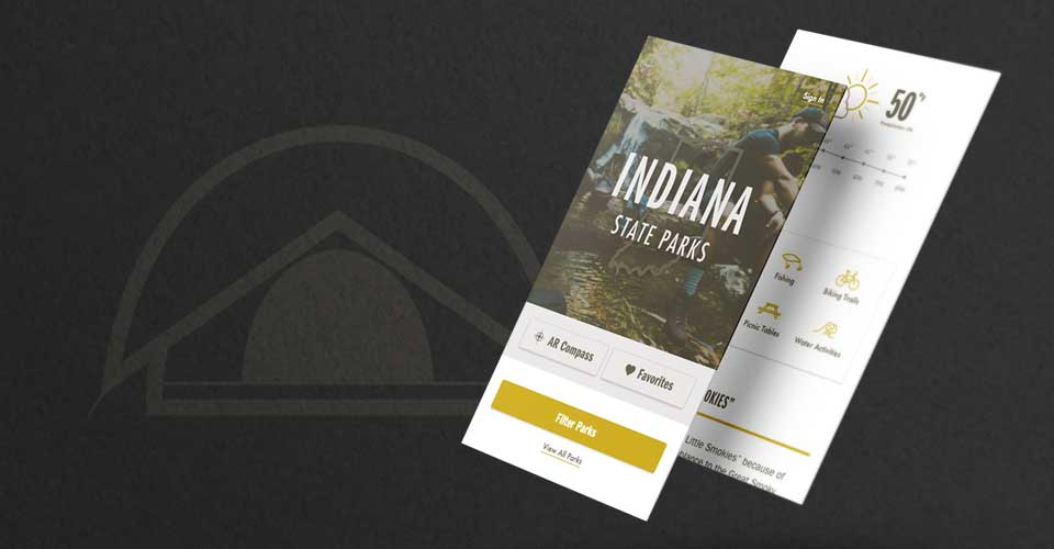 Conceptual App Design for Indiana State Parks - UX/UI Design